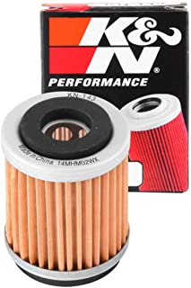 K&N Motorcycle Oil Filter: High Performance, Premium, Designed to be used with Synthetic or Conventional Oils: Fits Select Yamaha Vehicles, KN-143