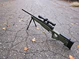 wellfire mk96 bolt action awp sniper rifle w/ scope and...