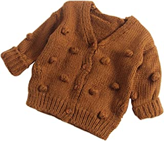 Dragon Honor Baby Girl Cardigan Pompom Buttons Knit V-Neck Sweater Autumn  Winter Jacket 7513cf4aa