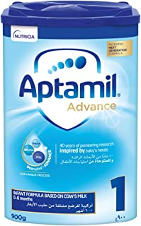 Aptamil Advance 1 Next Generation Infant Milk Formula From 0-6 Months, 900G