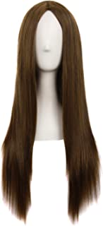 MapofBeauty 28 Inch/70cm Women Special Natural Long Straight Wig (Brown)