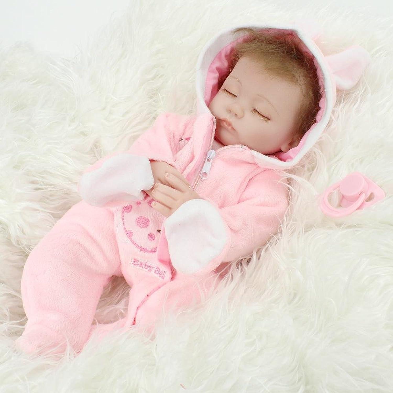LINAG Babypuppen Reborn Baby Vinyl Silikon Weich Lebensechte Wirkendes Neugeborene Realistische Wiedergeboren Spielkameraden Simulation Mdchen Junge Spielhausspielzeug 45cm Doll-83269