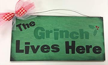 the grinch lives here sign