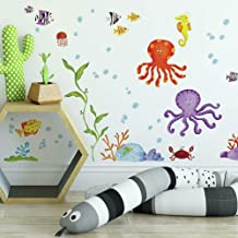 RoomMates Adventures Under The Sea Peel and Stick Wall Decal, Multicolour