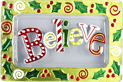 LSArts Christmas Platter-Believe-14x9 Inches, 14x9