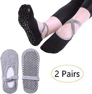 KINDOYO Yoga Grips Socks - Ballet Pilates Dance Non Slip Breathable Socks for Women Girl