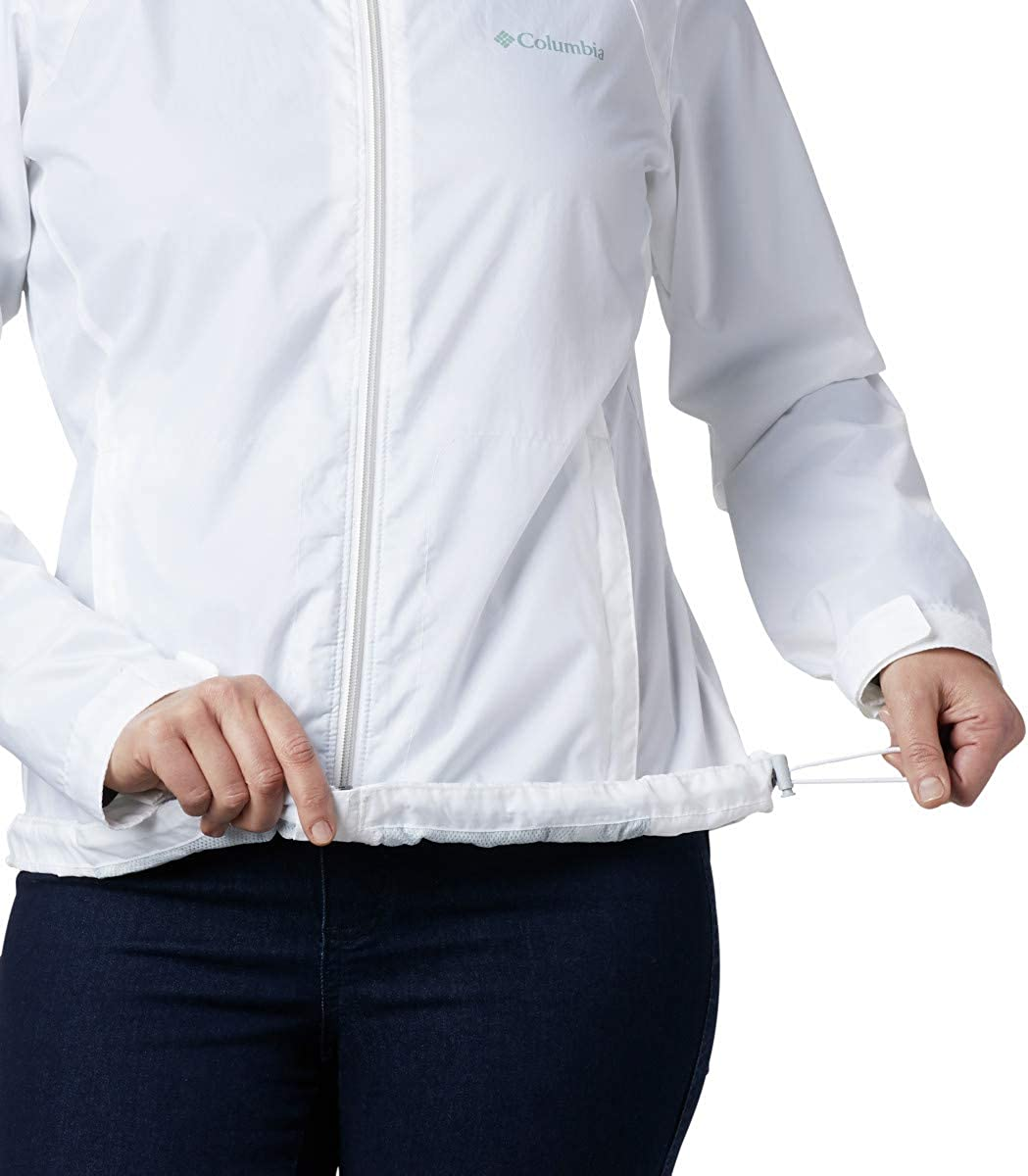 Columbia Damen Waterproof and Breathable Regenjacke Weiß