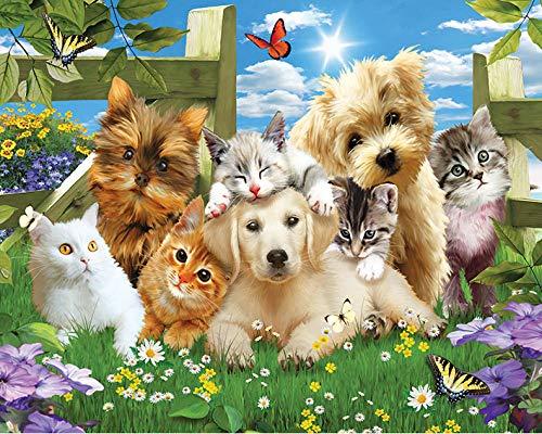 Jigsaw Puzzle 1000 Stukjes, Katten En Honden Kijken Foto, 1500/1000/500/300 Stukjes, Puzzel Spelletjes Woondecoratie Cadeaus