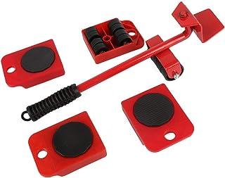 家具リフター簡単移動スライダー5パック発動機ツールセット重い家具電化製品移動&リフティングシステム、赤