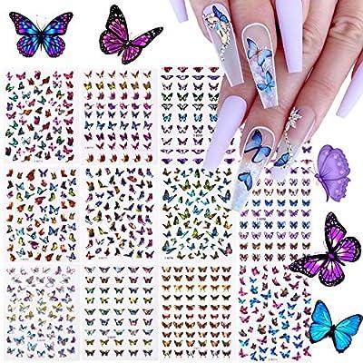 12 Blatt Butterfly Nail