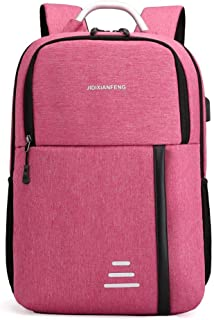 Fashion Backpack Student School Bag High Capacity Couple Travel Computer Backpack Unisex ; (Color : Pink, Size : Free Size)