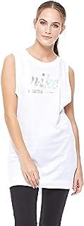ملابس رياضية لامعة W NSW DRSS للنساء من نايك، S، ابيض