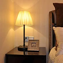 Table Lamp Bedside Nightstand Light with Lamp Shade Base Reading Light for Living Room Office Bedroom Dorm Kids Room Decor...
