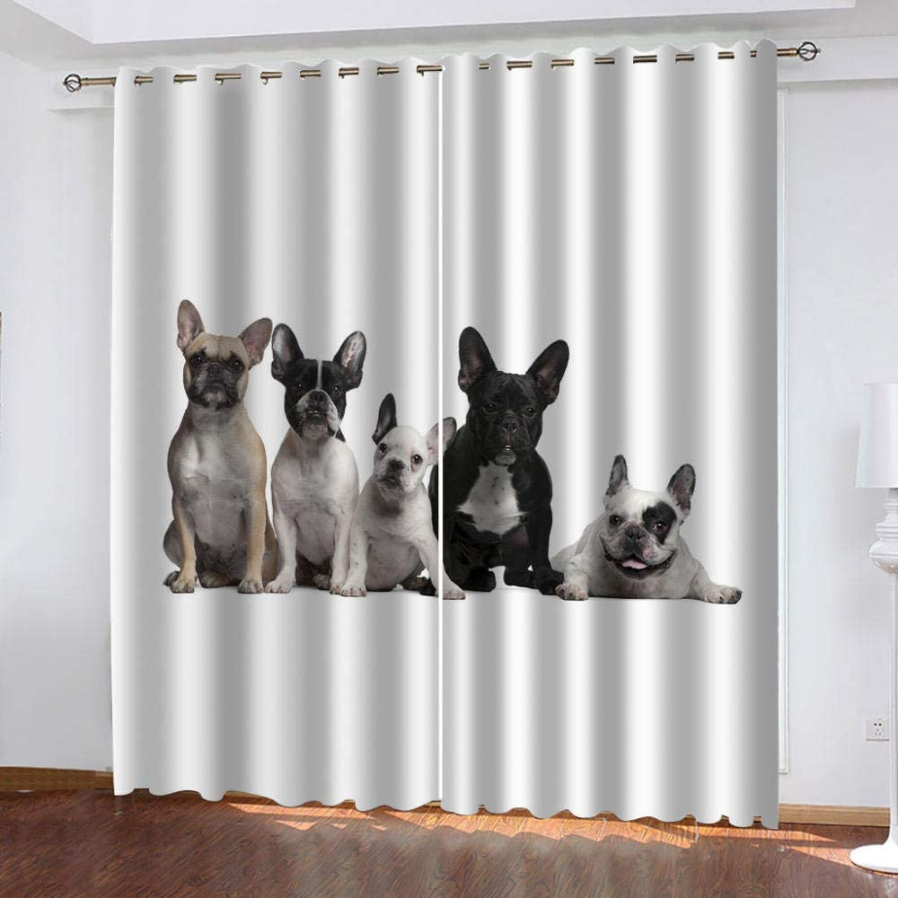 CQDSQN Curtains for Living Room Max 57% OFF Animal 72 X Inches Puppy 84 Pet Super sale