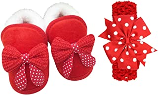 FemmeStopper Baby Shoes Bowknot Headband Baby Girl Shoes