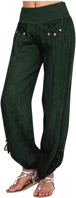 aihihe Wide Leg Pants for Women Plus Size Long Trousers High Waist Harem Yoga Pilates Pants Baggy Gypsy Hippie Pants