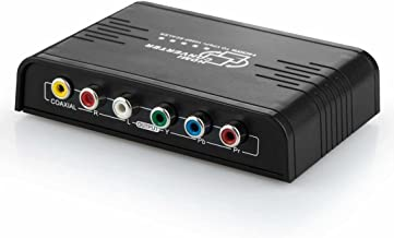 HDMI to Component YPbPr 5RCA Video Converter,Ozvavzk 1080p HDMI to Component Adapterwith Coaxial Audio + R/L Audio Output