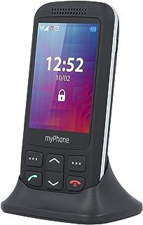 myPhone Halo S mobiltelefon seniormobiltelefon med stora knappar och utan kontrakt, 2,8 tum svart, med nödsamtalsknapp och...