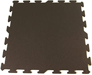 Greatmats Interlocking Rubber Flooring Tile 8 Pack (Black)