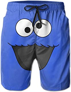 Men's Casual Sleep Shorts Cookie-Monster Swim Shorts Board Shorts