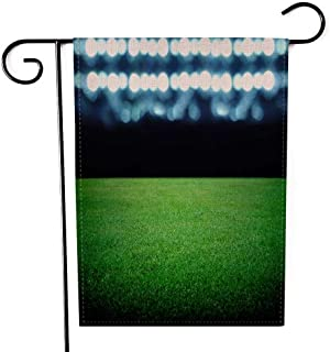 Capsceoll Garden Flag Outdoor 12.5X18 Inch,Double Sided Soccer Field The Bright Lights Decorative Yard Flag for Outdoor Garden Yard