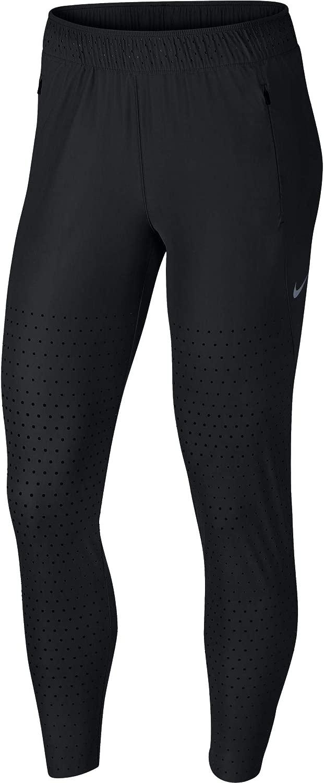 Nike Womens Swift Running Pants 黒/Thunder グレー/Reflective SILV S