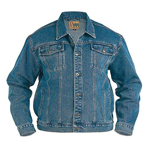 Grande King Size Da Uomo Jeans Giacca Duke Stile Camionista London Western Slavati Cappotto - Slavato, XL