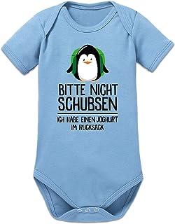 Shirtcity Bitte Nicht schubsen, ich Habe einen Joghurt im Rucksack Baby Strampler by