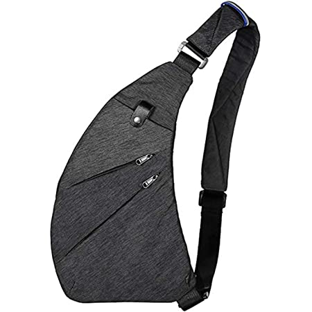 Wishliker Crossbody Sling Bag Schultertasche Anti-Diebstahl Brusttasche Unisex Reisen,Grau