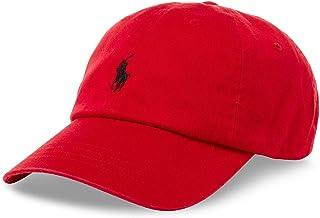 قبعة Polo Ralph Lauren للرجال/النساء بشعار الحصان / قابل للتعديل، أسود/أحمر، مقاس واحد