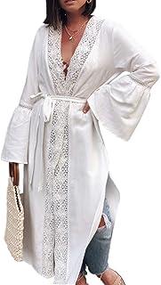 Vestido Bohemia de Playa Kaftan Kimono Pareos Cover Ups para Mujer