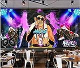 SKTYEE Mural personalizado papel tapiz fotográfico 3d Graffiti tendencia dinámica música street dance ktv decoración sala de estar papel tapiz para paredes 3 d, 350x245 cm (137.8 by 96.5 in)