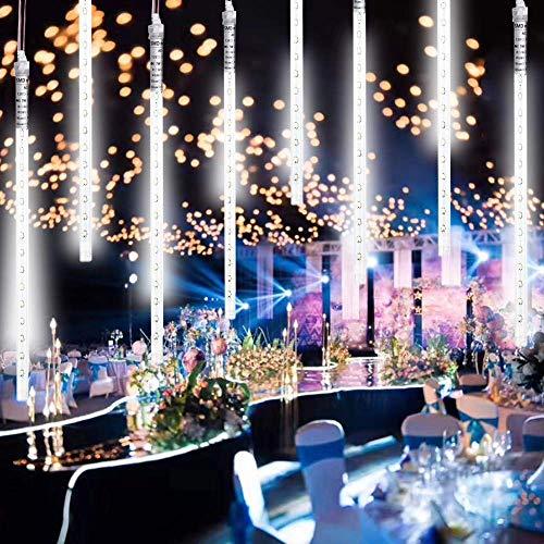 Stringa Luci led, Catena Luminosa led USB con 8 Tubi Luminosi di 30cm, 240 leds, 3.2m Lunghezza,IP65 Impermeabile,Luci Natale Pioggia di Meteoriti, per Albero di Natale, Giardino, Interno, Esterno