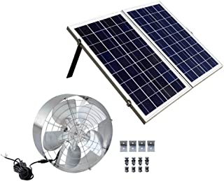 ECO-WORTHY 65W 3000 CFM Solar Attic Fan with 50W Poly Folding PV Solar Panel Kit for Your House, Gabel Vent, Garage or RV