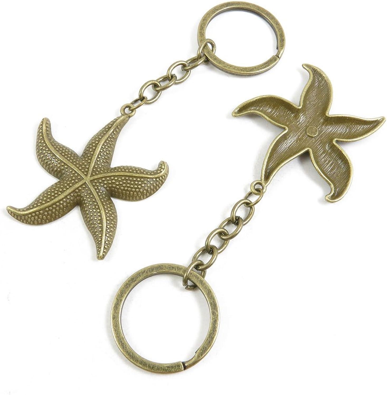 120 Pieces Fashion Jewelry Keyring Keychain Door Car Key Tag Ring Chain Supplier Supply Wholesale Bulk Lots H5NA7 Starfish Sea Star
