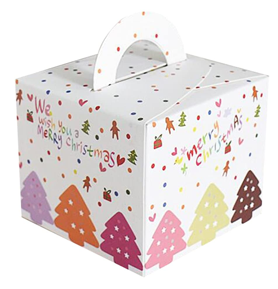 12-Pack Cardboard Christmas Treat Boxes for Gift Wrapping from Zaptex (White)
