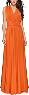 Women's Convertible Multi Way Wrap Maxi Dress Long Party Grecian Dresses