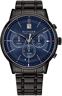 Tommy Hilfiger 1791633 Stainless Steel Round Analog Water Resistant Watch for Men - Black