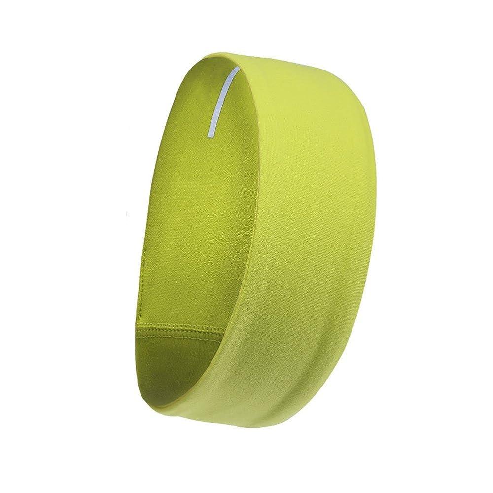 前提オーバーラン前提スポーツヘッドバンドシリコンノンスリップヘッドバンドスウェットバンド伸縮性ファッションヘアバンド男性用女性のワークアウトヨガランニングまたはカジュアルウェア(明るい黄色)