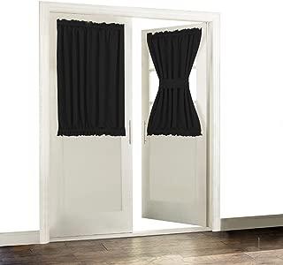 Aquazolax French Door Curtain Window Treatment Blackout Glass Door Curtain Panel 54