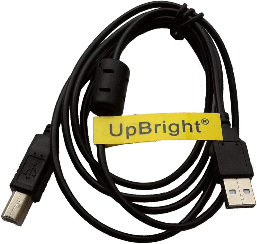UpBright 5 FT USB Cable Type A Male B High Speed 2.0 Laptop PC Data Cord Replacement For InkJet Laser Toner Printer Dell Series: 5230dn 5330dn 5350dn 1350cnw 948 V105 V313 Brother 145C 195C 7040 585CW