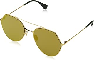 Fendi Women's Ff 0194/S 83 Sunglasses, Yellow Gold, 55