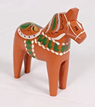 Traditional Wooden Swedish Dala Horse - Antique Red 8 (20cm)