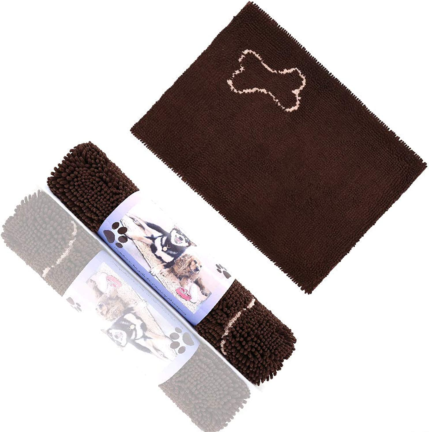 Microfiber Dog Door Runner Mat  Ultra Absorption Washable Dirty Dog Doormat No Slip Backing XLarge Size 152cm76cm  60 30  Pet Clean Paws Scruffs Noodle Dry Mat Chocolate color