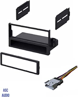 ASC Car Stereo Dash Install Kit and Wire Harness for Installing a Single Din Radio for select Saturn Vehicles - Very Important: Read Compatible Vehicles and Restrictions Listed Below