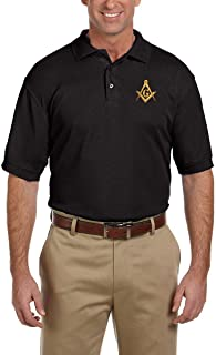 Square & Compass Embroidered Masonic Men's Polo Shirt