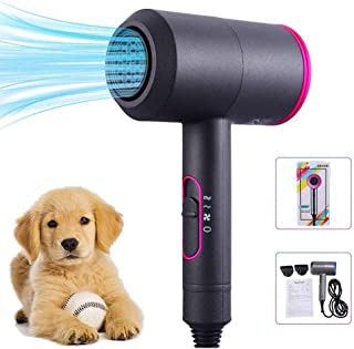 XUHUIXZI Worth Having Pet Hair Dryer - High Power Cat Dog Hair Dryer Pet Grooming Cleaning Tool, T-Shaped Ultra-Quiet Desi...