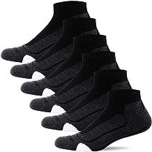 BERING Men's Performance Athletic Ankle Running Socks (6 Pair Pack)