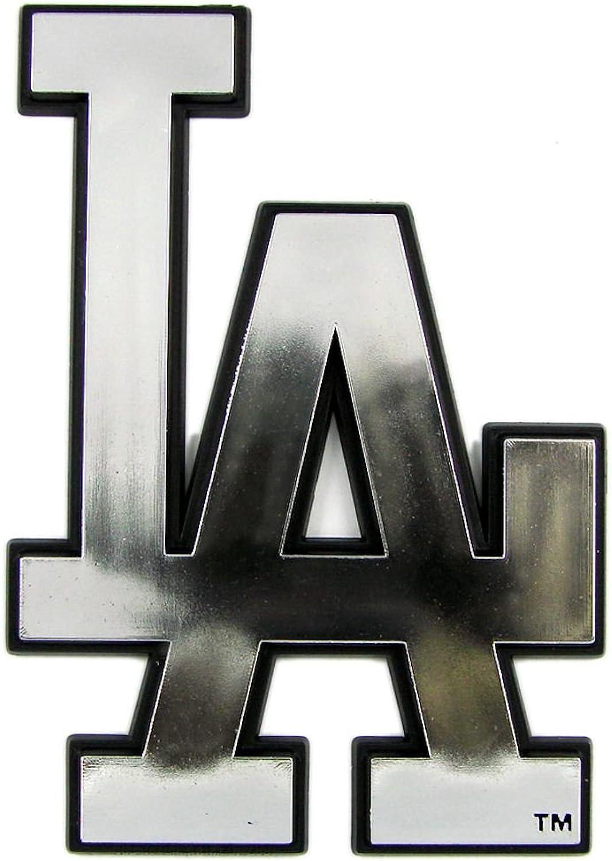(Los Angeles Dodgers) - Caseys Distributing 8162053155 Los Angeles Dodgers Silver Auto Emblem