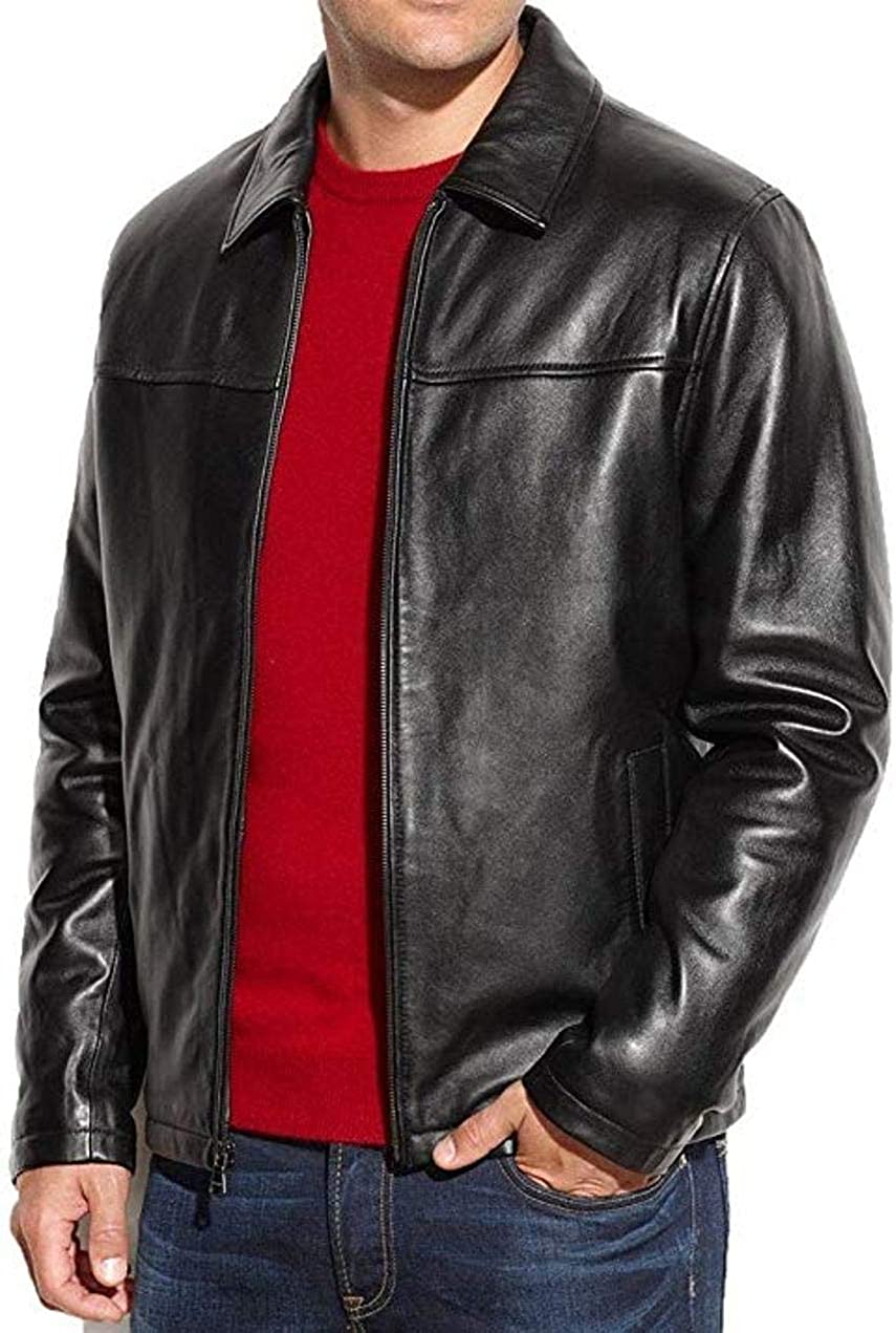 Oakland Mall V4M Fashion FS Lambskin Men's Leather OFFicial store Jacket